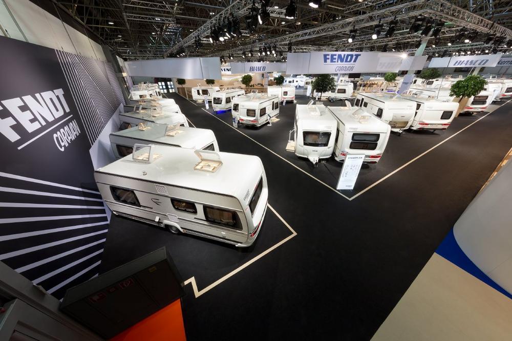 Fendt-Caravan präsentierte sich auf dem Caravan Salon mit ...